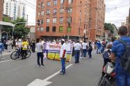 Marcha en Medellín.