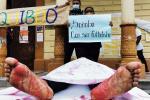 Plantón a las afueras de la Alcaldía de Quibdó, Chocó.