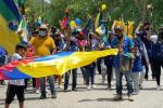 La minga indígena en Antioquia ha sido pacífica.