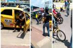 El hombre salió mal librado mientras que el taxista debió pagar la lavada del carro
