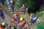 Se fue a un abismo y milagrosamente se salvaron de morir en el corregimiento de San Sebastián de Palmitas, occidente de Medellín