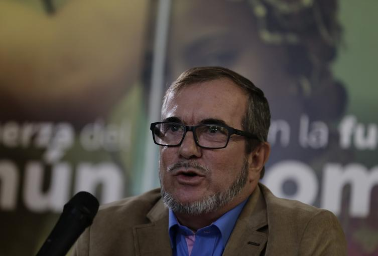 Rodrigo Londoño, líder del partido político Fuerza Alternativa Revolucionaria del Común (FARC)