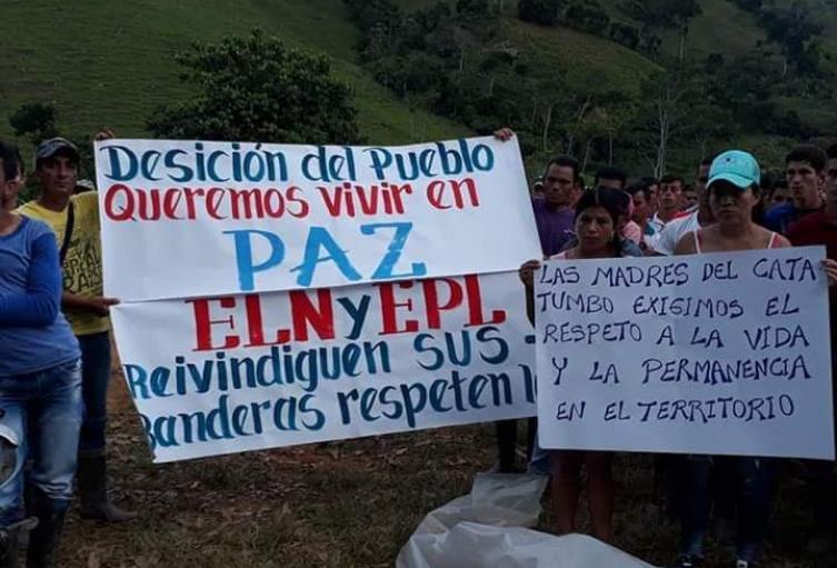 Habitantes de Catatumbo exigen desescalamiento del conflicto.