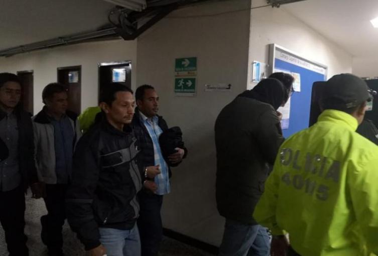Presuntos disidentes de las Farc capturados.