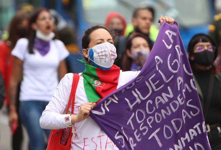 foto de referencia, Marcha feminista en Bogotá / reclamo contra feminicidios en Colombia