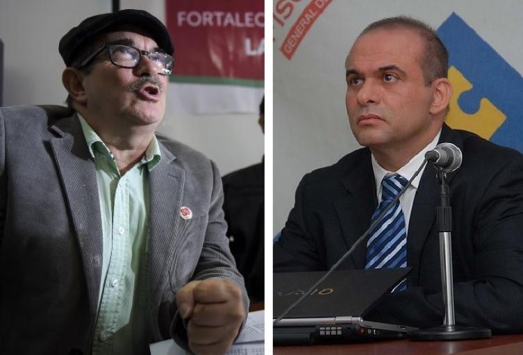 Rodrigo Londoño y Salvatore Mancuso