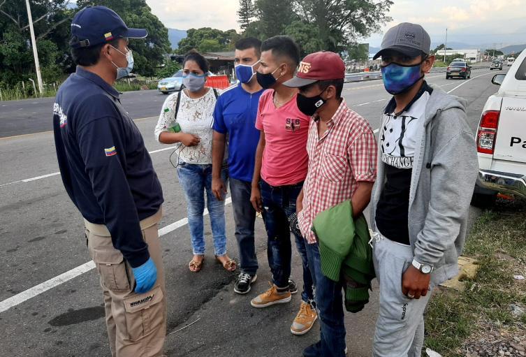 Población Migrante en la zona de Frontera entre Colombia y Venezuela