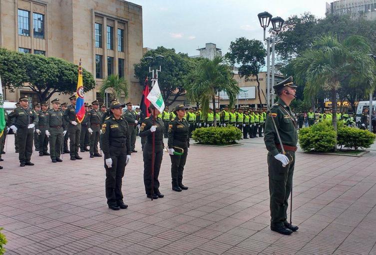 Uniformados de la Policía y el Ejército en Cúcuta