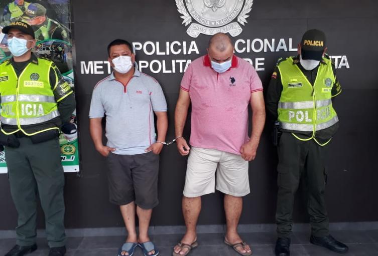 Capturados en la vía Sardinata- Cúcuta