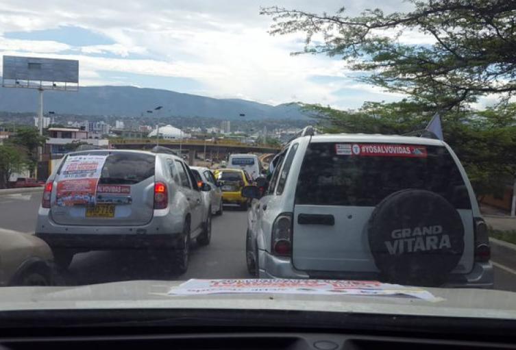 Caravana de Sindicalistas en Cúcuta