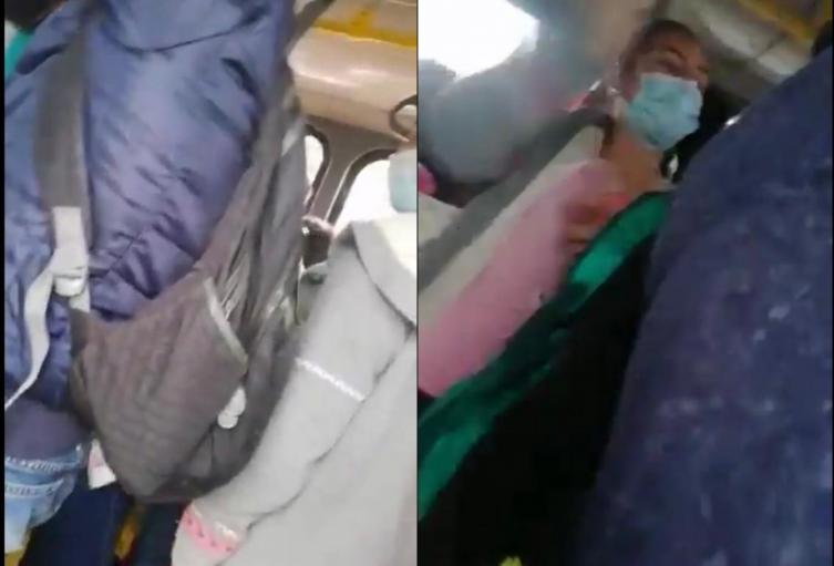 Dos mujeres terminaron a los golpes en Transmilenio por un tapabocas