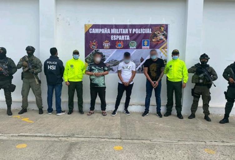Capturados tres presuntos narcotráficantes