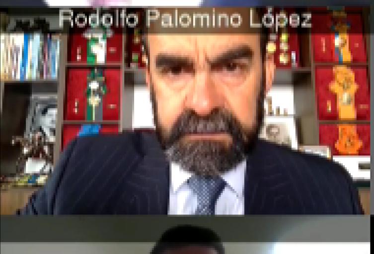 general en retiro Rodolfo Palomino en audiencia ante la Corte Suprema de Justicia