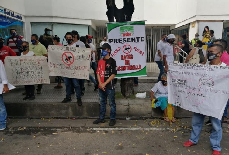 Plantón de sectores sociales en Cúcuta