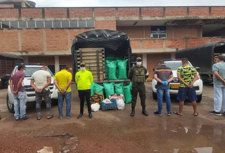 Capturan 6 personas por contrabando de carne desde Venezuela