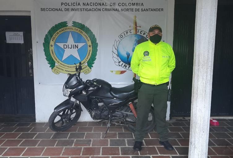 Moto recuperada en Ocaña