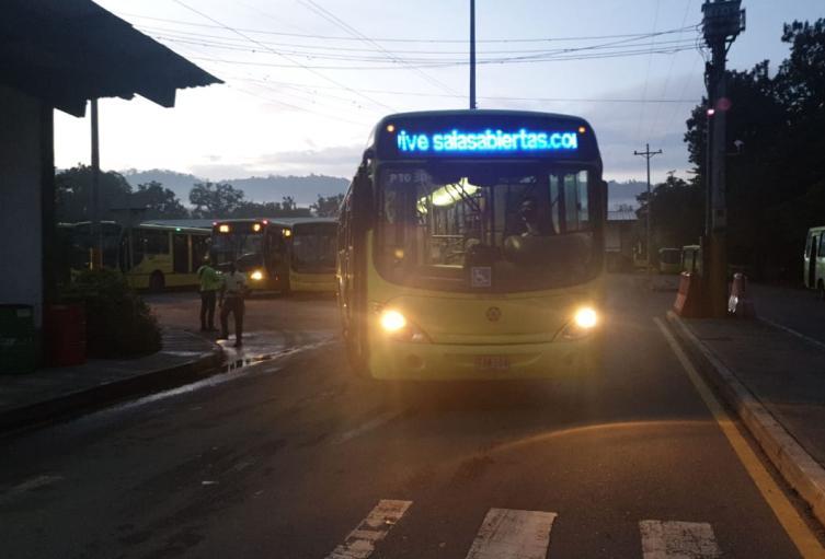 Rutas Metrolínea suspendidas
