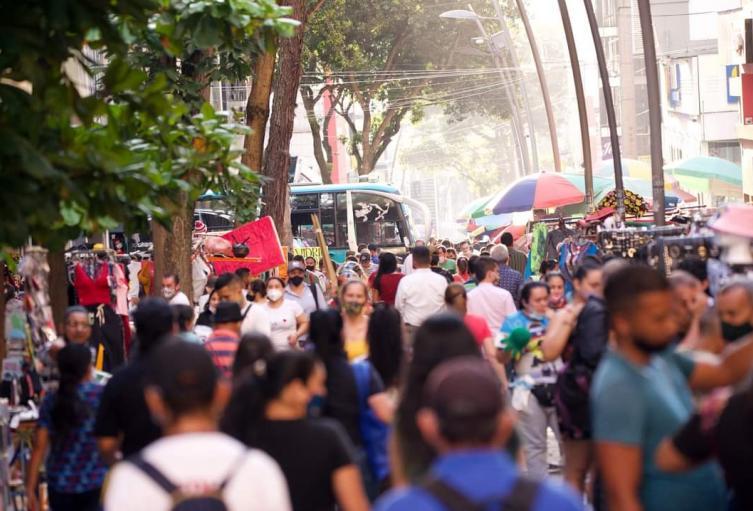 Alerta por aglomeraciones en el centro de Bucaramanga