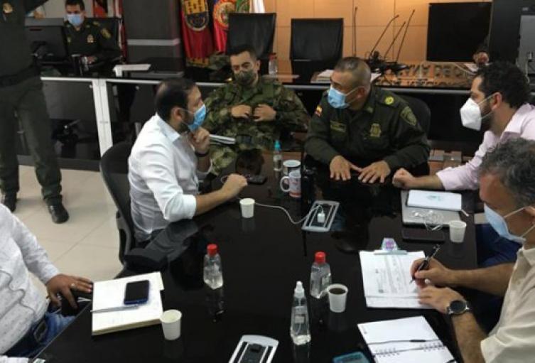 Autoridades en zona de frontera