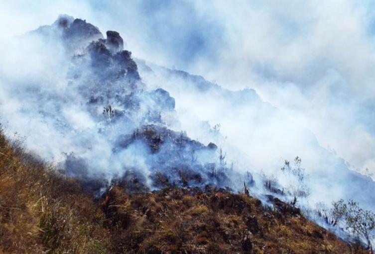 Alerta máxima en Santander por incendios forestales