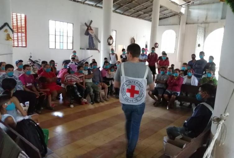 Familias desplazadas en el Catatumbo