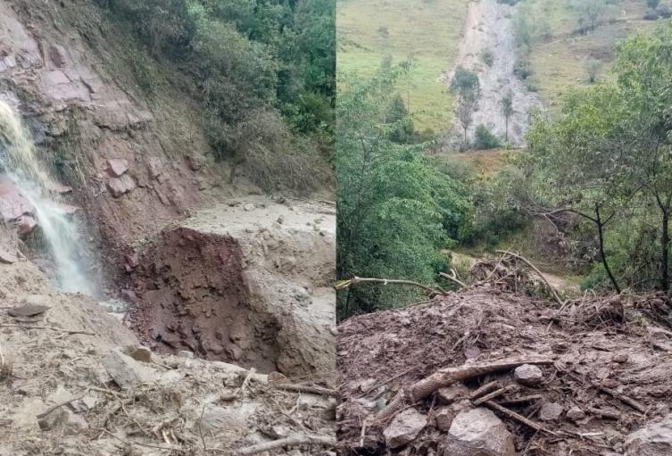 Avalancha mantiene incomunicados a dos municipios de Santander y Boyacá