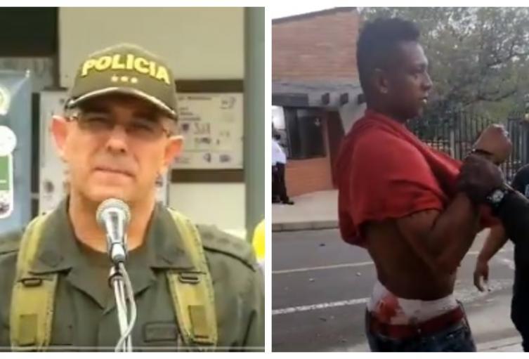 Pelea Fredy Guarín - policía