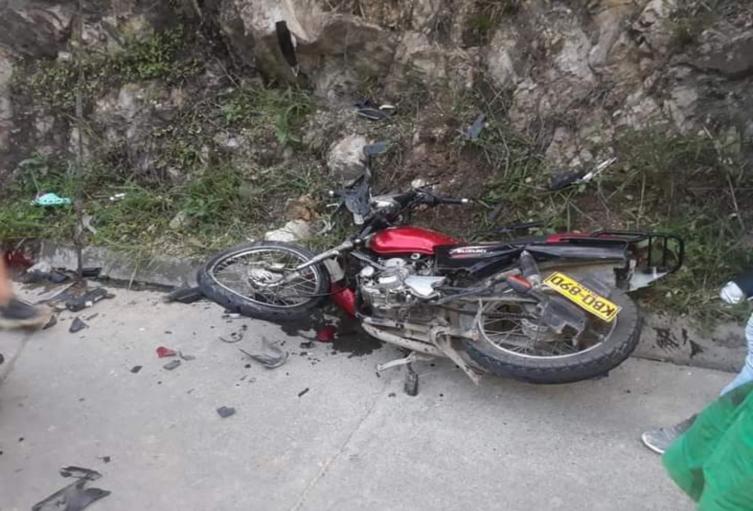 Accidente moto Ocaña