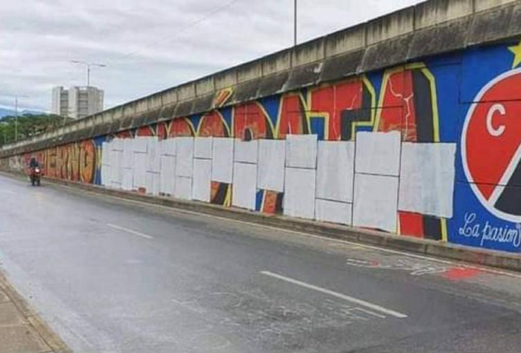 Mural contra Gobierno en Cúcuta