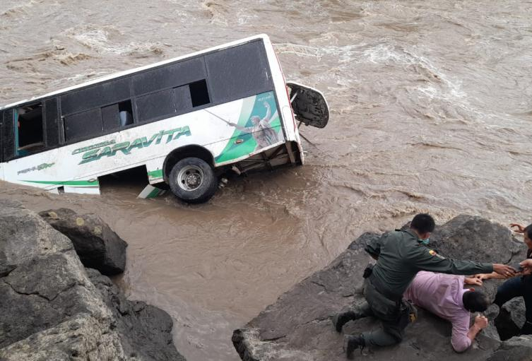 Cayó al río Suárez