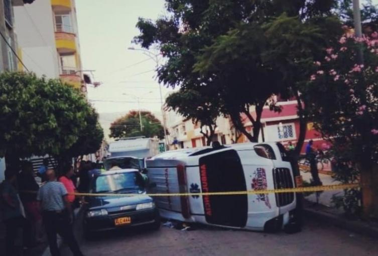 accidente ambulancia
