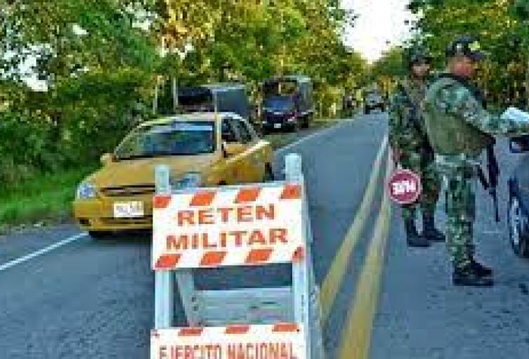 Retén Militar en Norte de Santander