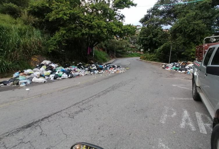 basuras en la calle