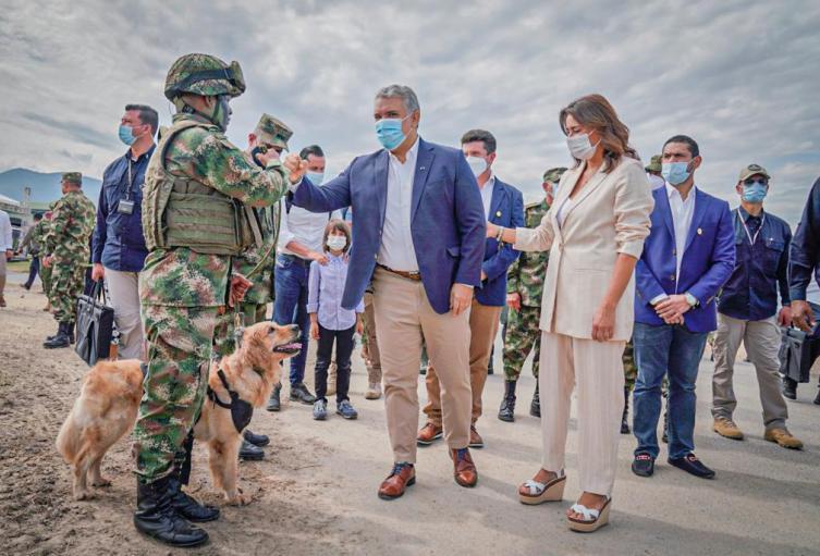 Presidente Iván Duque en tolemaida