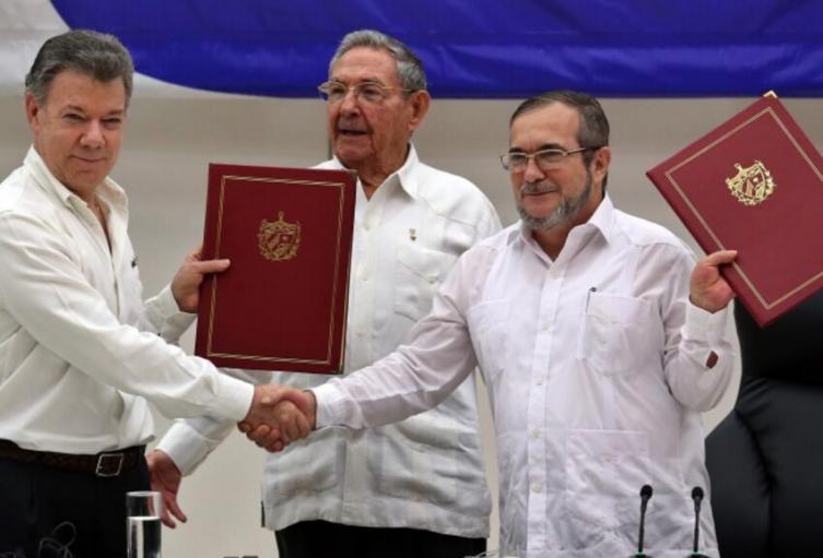Firma de paz entre Gobierno y Farc