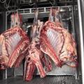 La carne en las plantas de sacrificio.