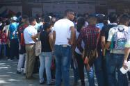 Personas en Barranquilla en busca de empleo