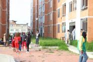 Protestas en un conjunto de Soacha