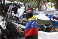 Migrantes venezolanos – crisis humanitaria en Bogotá – campamento de migrantes en Autopistas Norte