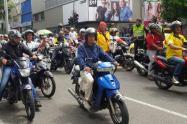 Los hechos delictivos en la ciudad se han incrementado y por eso la propuesta del pasajero en moto.