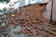 Deslizamiento de tierra en el barrio La Cabrera en Cúcuta
