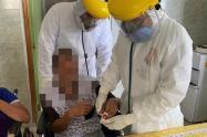 Los ancianos fueron atendidos por la Secretaría de Salud.