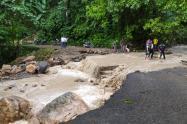 Desbordamiento de río y quebrada en Arboledas Norte de Santander
