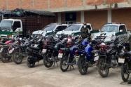 aprehension de 36 motocicletas en Cucuta