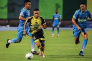 El pitazo final del central Ferney Trujillo sentenció el empate 2-2 entre Alianza Petrolera y Jaguares de Córdoba.