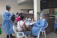 Realizan pruebas de Covid-19 a migrantes venezolanos en Bucaramanga