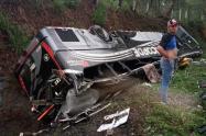 Accidente de tránsito en la vía Bucaramanga- Barranquilla