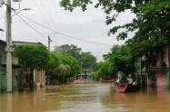 Vías inundadas en Tibú