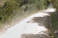 Falta pavimentar este corredor Nacional.