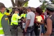 Entre los 97 haitianos, habían 15 menores de edad.